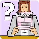 application form being read